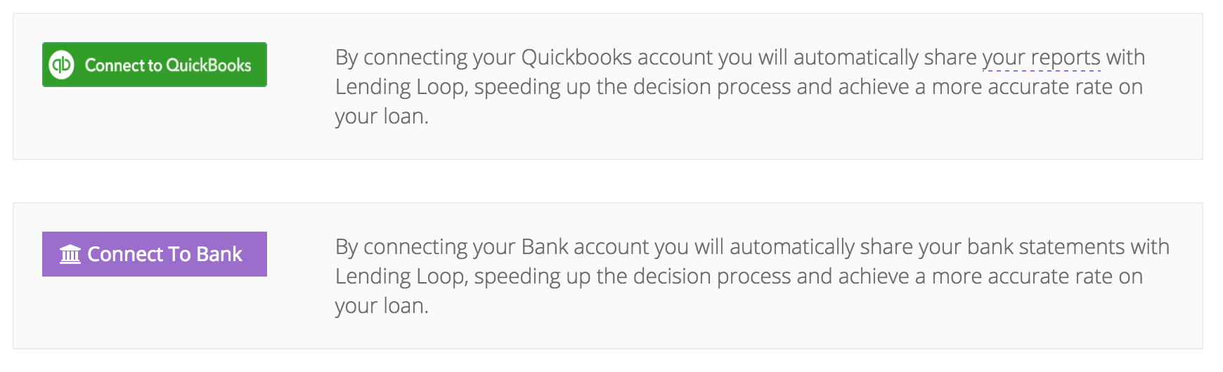 Lending Loop QuickBooks Online